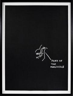 Jean-Michel Basquiat, Head of the Mandible, Screenprint, 1982