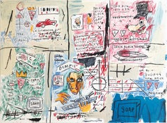 "Jean-Michel Basquiat ""Olympic"". Screenprint, 1982/83 - 2017. Edition of 50."