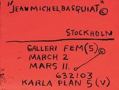 Vintage Basquiat Exhibition Poster Stockholm 1980s