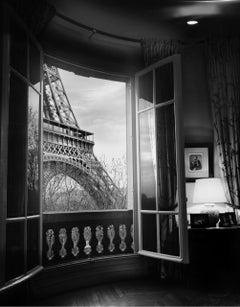 Eiffel Tower, Paris , France Black and white