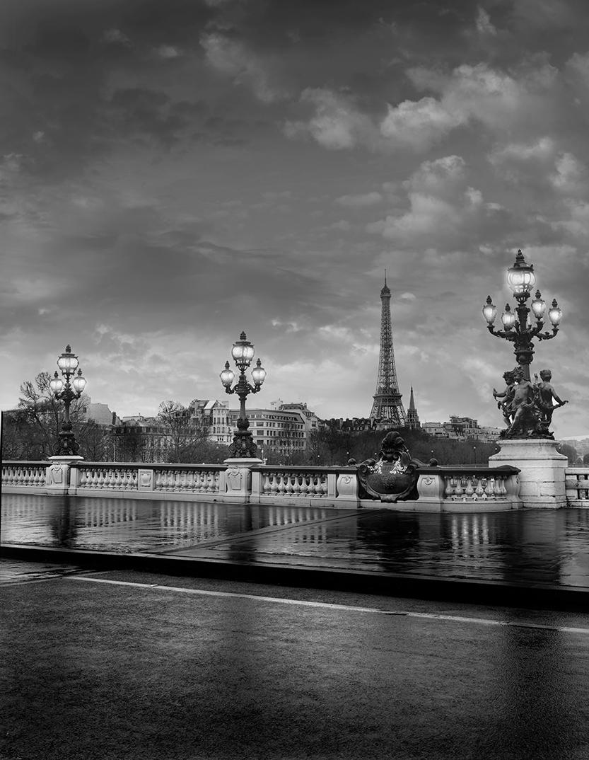 The Eiffel Tower from the Quai Branly, Paris, Bridge