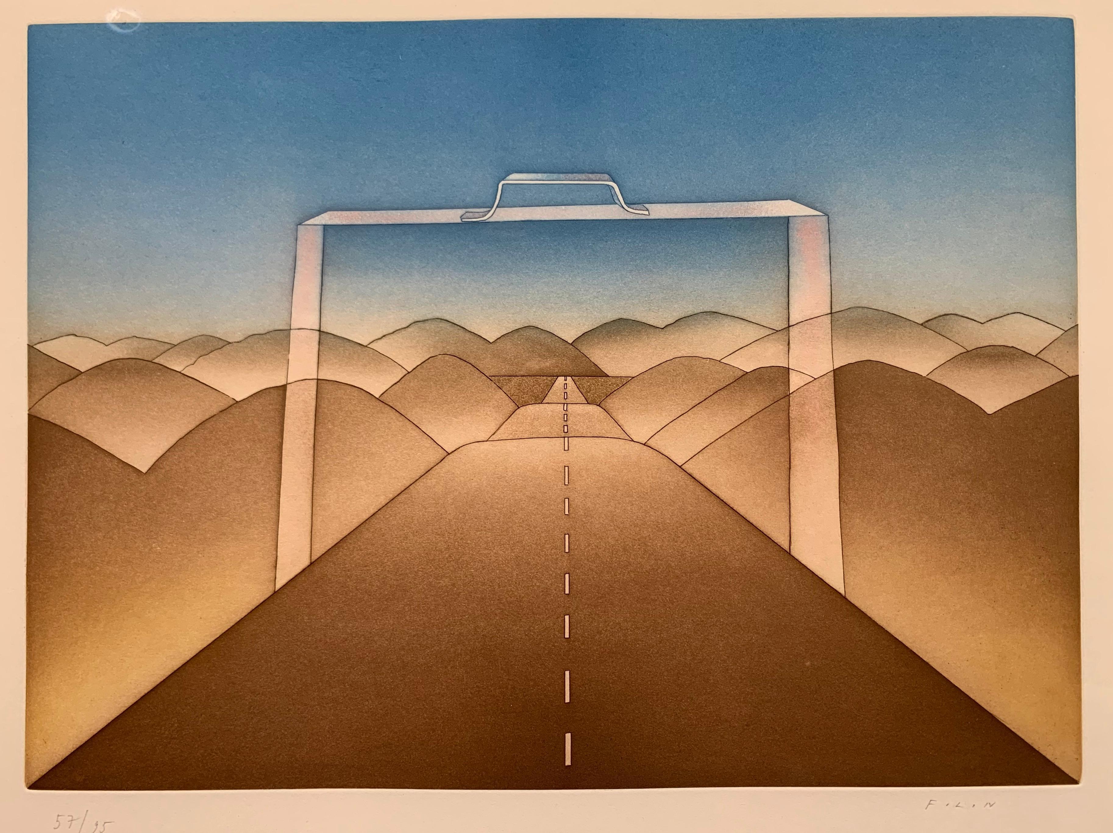 The Suitcase (surrealist landscape)