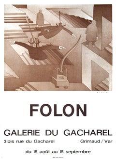 1972 After Jean-Michel Folon 'Galerie Du Cacharel' Surrealism