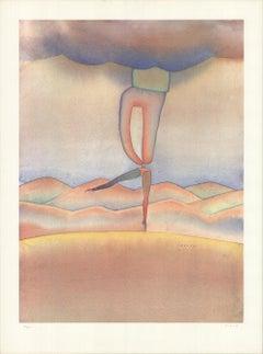 1979 Jean-Michel Folon 'Ballerina' Surrealism France Offset Lithograph