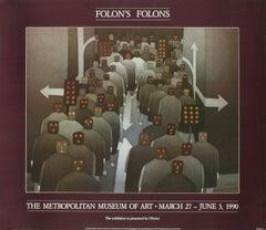 1990 After Jean-Michel Folon 'The Crowd' Surrealism USA Offset Lithograph