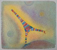 Dancing Eiffel Tower - Screen Print, 1990