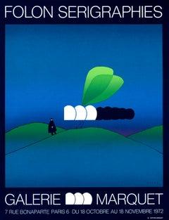 """""""Folon Serigraphies - Galerie Marquet"""" Original Vintage Exhibition Poster"""