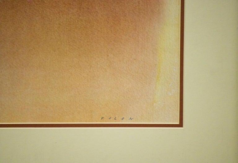 Pour Seurat-Framed Offset Lithograph. Nouvelles Images, Printed in France - Beige Figurative Print by Jean-Michel Folon