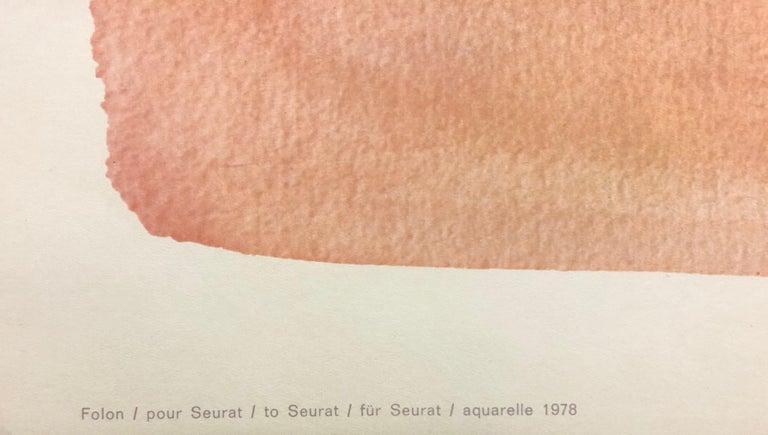 Pour Seurat-Offset Lithograph. Nouvelles Images, Printed in France - Orange Figurative Print by Jean-Michel Folon