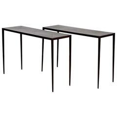 Jean Michel Frank Iron Console Tables