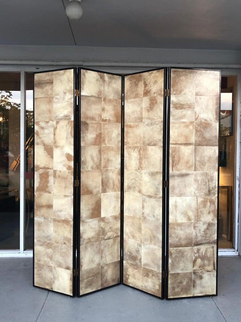 Jean-Michel Frank Manner Large Parchment Screen Room Divider For Sale 5