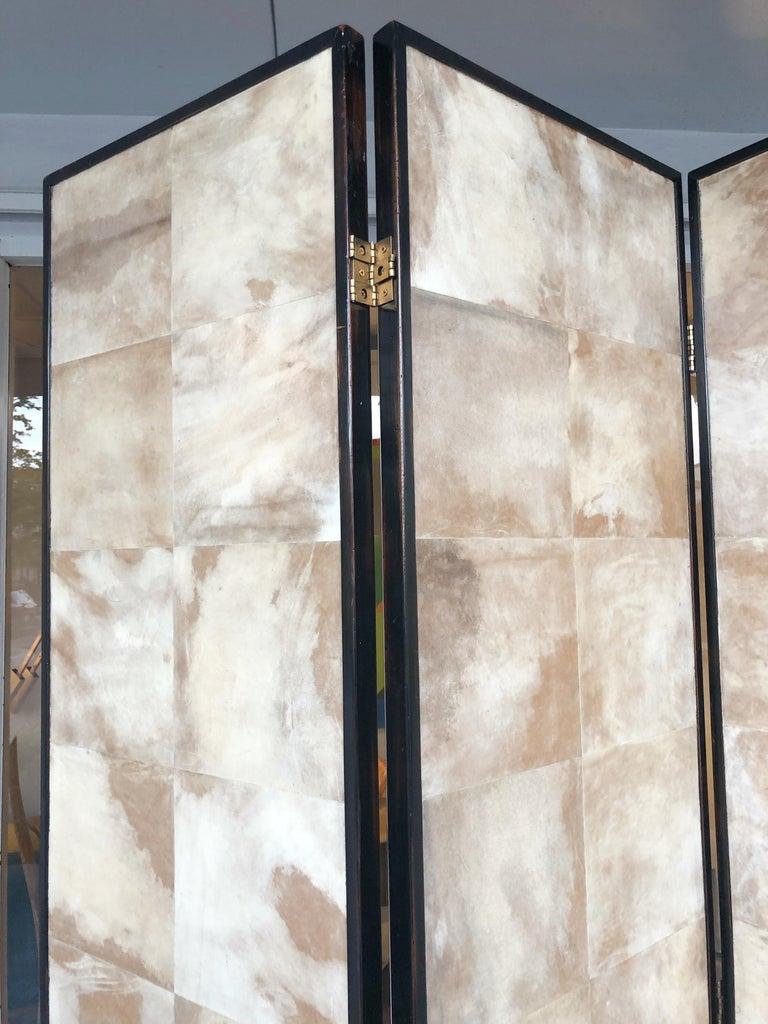 Jean-Michel Frank Manner Large Parchment Screen Room Divider For Sale 3
