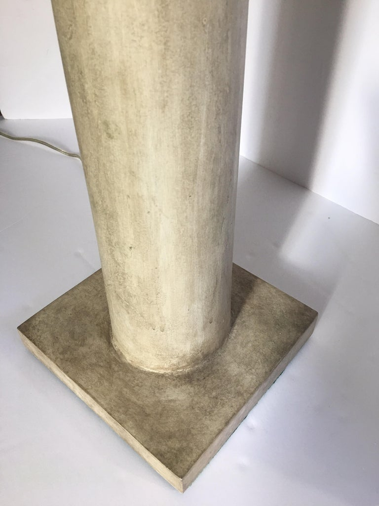 Jean-Michel Frank Style Modern Plaster Column Table Lamp For Sale 3