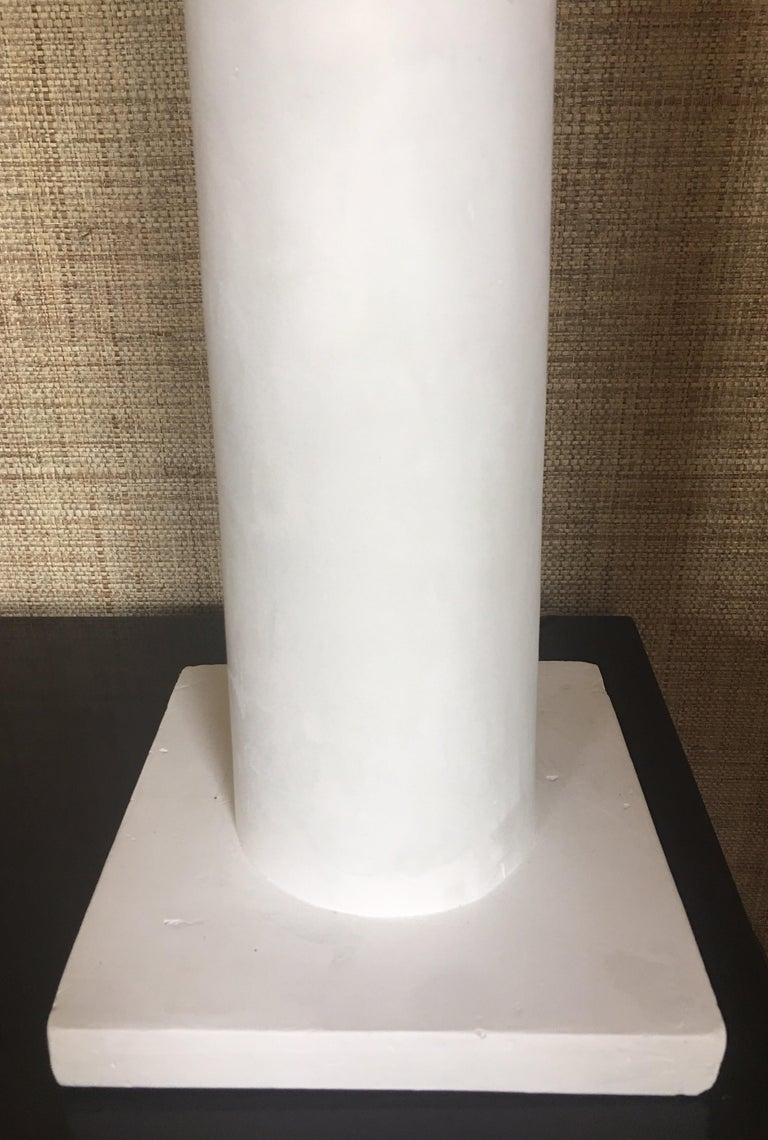 Contemporary Jean-Michel Frank Style Columnar Plaster Table Lamp For Sale