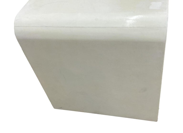 Mid-Century Modern Jean-Michel Frank Style Goatskin Parchment Waterfall Side Table For Sale