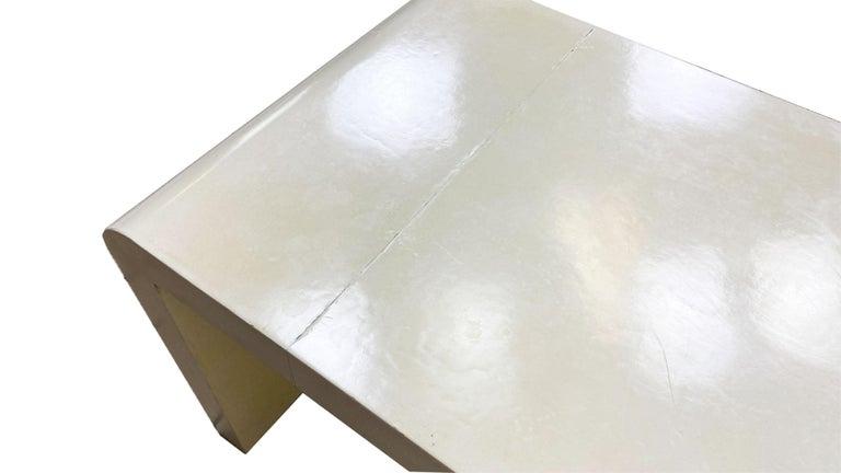 Jean-Michel Frank Style Goatskin Parchment Waterfall Side Table For Sale 1