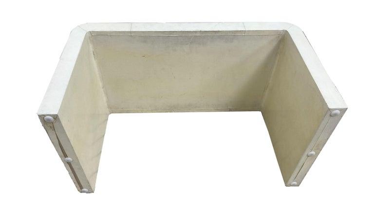 Jean-Michel Frank Style Goatskin Parchment Waterfall Side Table For Sale 2