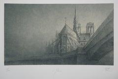 Notre-Dame de Paris - Original Handsigned Etching