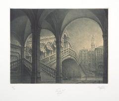 Rialto Bridge, Venise - Original Handsigned Etching