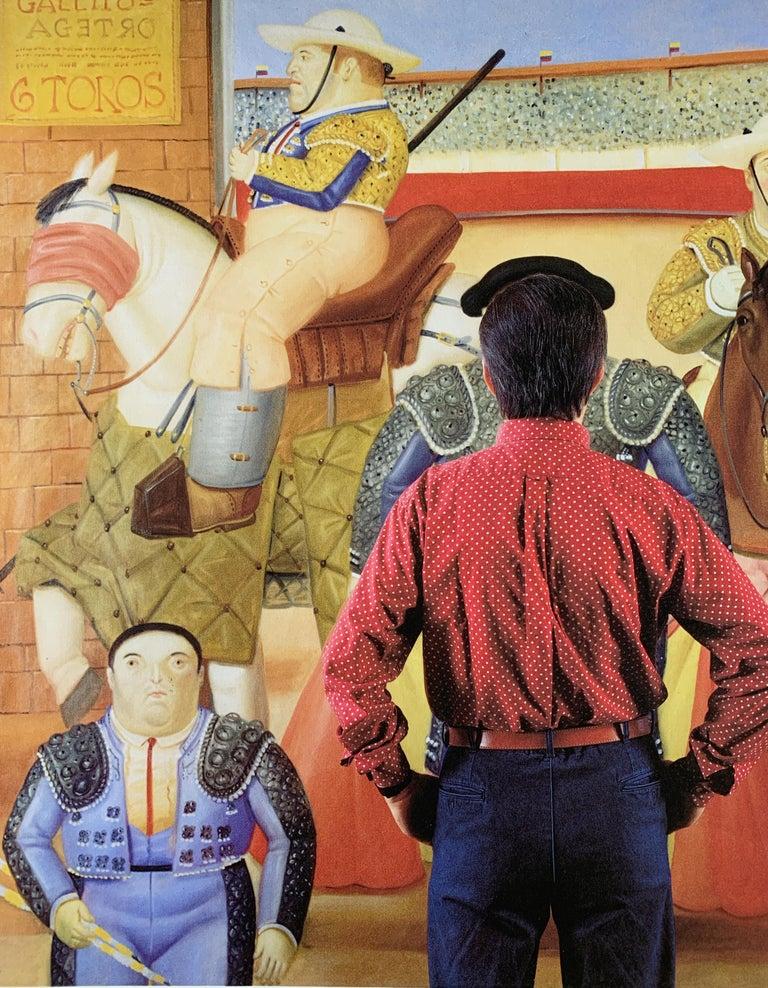Botero in his Studio, Paris, Contemporary Photographic Portrait of Famed Artist - Brown Portrait Photograph by Jean-Michel Voge