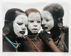 Family, Nomadic Surma Tribe, Omo Valley, Ethiopia, Africa, on Japanese Paper