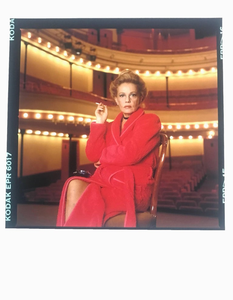 Jean-Michel Voge Portrait Photograph - Jeanne Moreau, Paris, Contemporary Color Photographic Portrait of French Actress