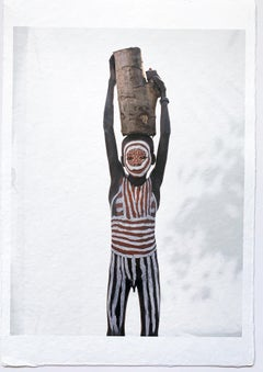 Little Surma Boy, Tribal Child Ethiopia, Africa, Color Photo on Japanese Paper