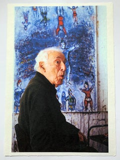 Marc Chagall in his Studio, France, Contemporary Artist Portrait Photograph, 1/1