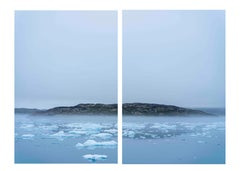 Mist and Ice, Greenland, Contemporary Color landscape Photograph, Diptych Ed 1/5