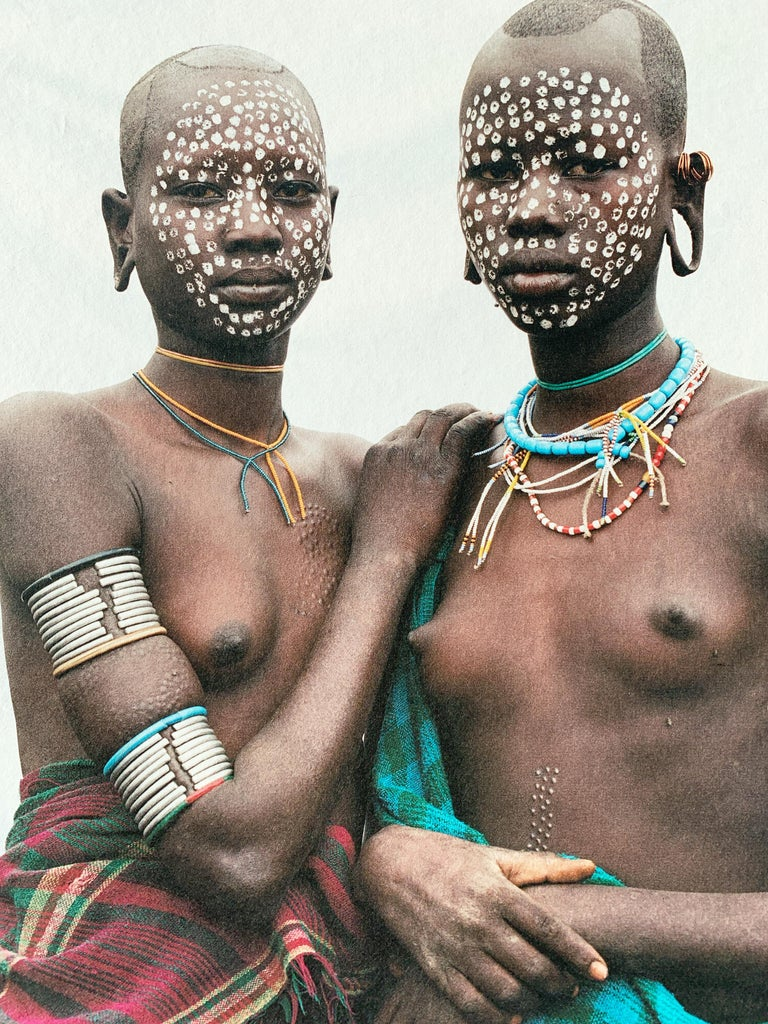 Nomad Princesses, Tribal Women Ethiopia, Africa, on Japanese Paper Limited Ed - Photograph by Jean-Michel Voge