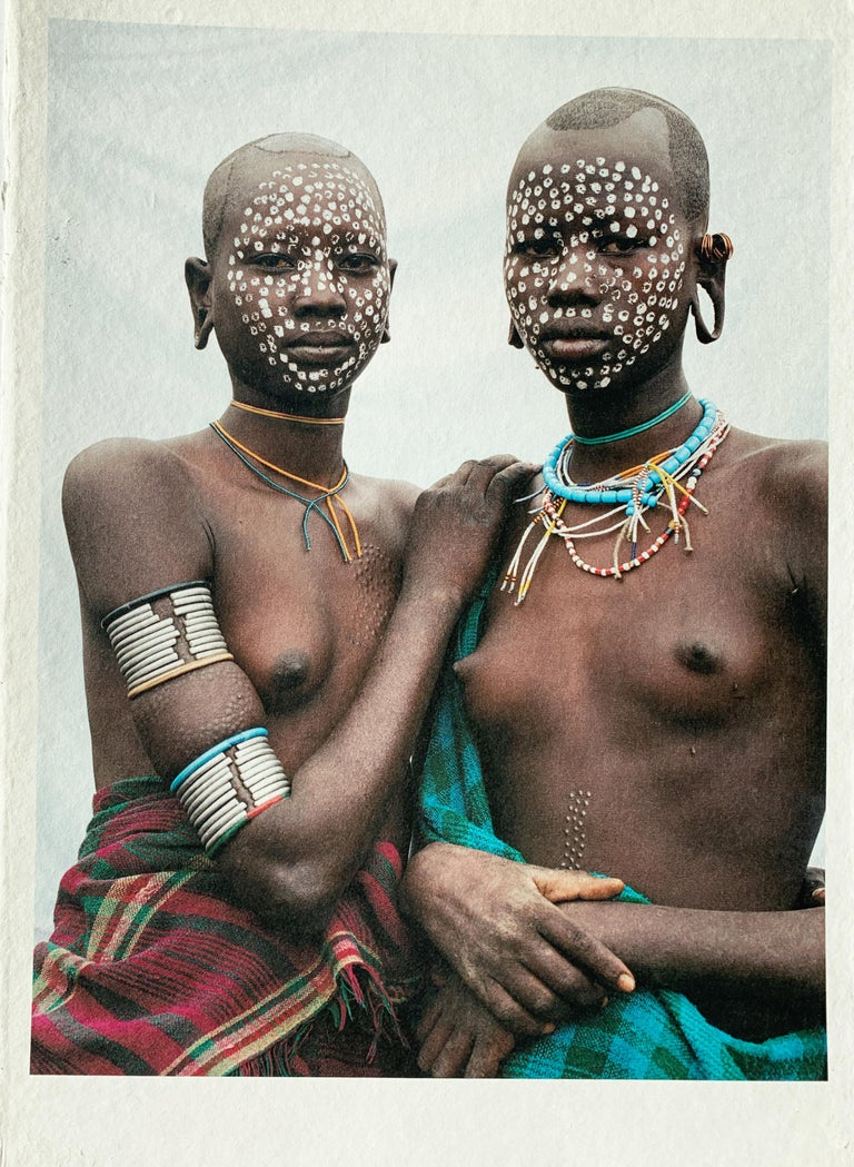 Nomad Princesses, Tribal Women Ethiopia, Africa, on Japanese Paper Limited Ed - Gray Color Photograph by Jean-Michel Voge
