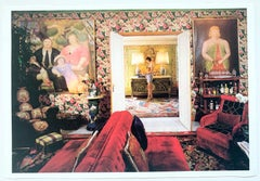 Valentino's Home in Rome, Italy with Botero Paintings, Interiors Photography