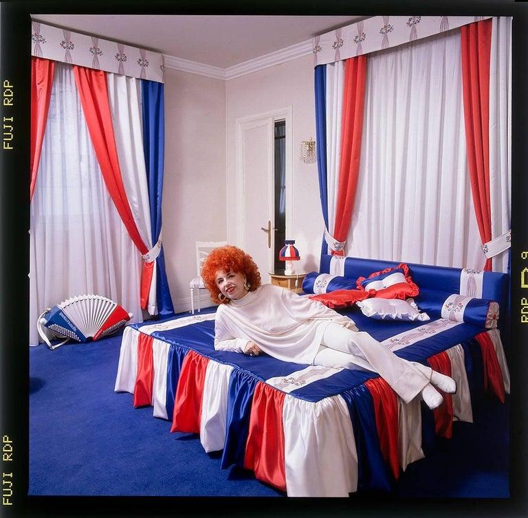 Jean-Michel Voge Portrait Photograph - Yvette Horner, French Musician, Paris, Contemporary Color Photographic Portrait