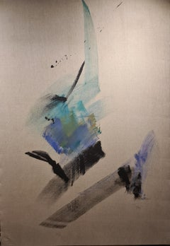 Lyrical Abstraction 2, Unique Large Scale Mid Century work on Canvas