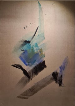 Lyrical Abstraction, Unique Large Scale Mid Century work on Canvas