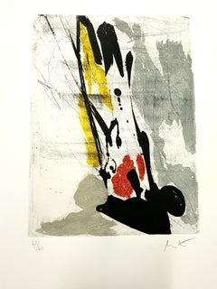 Jean Miotte - Abstract Composition - Original Signed Etching