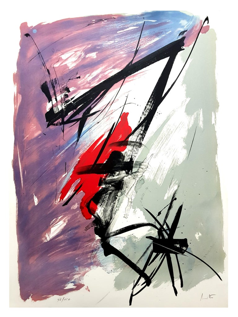 Jean Miotte - Abstract Composition - Original Signed Lithograph For Sale 7
