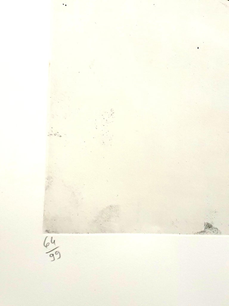 Jean Miotte - Abstract Composition - Original Signed Lithograph For Sale 1