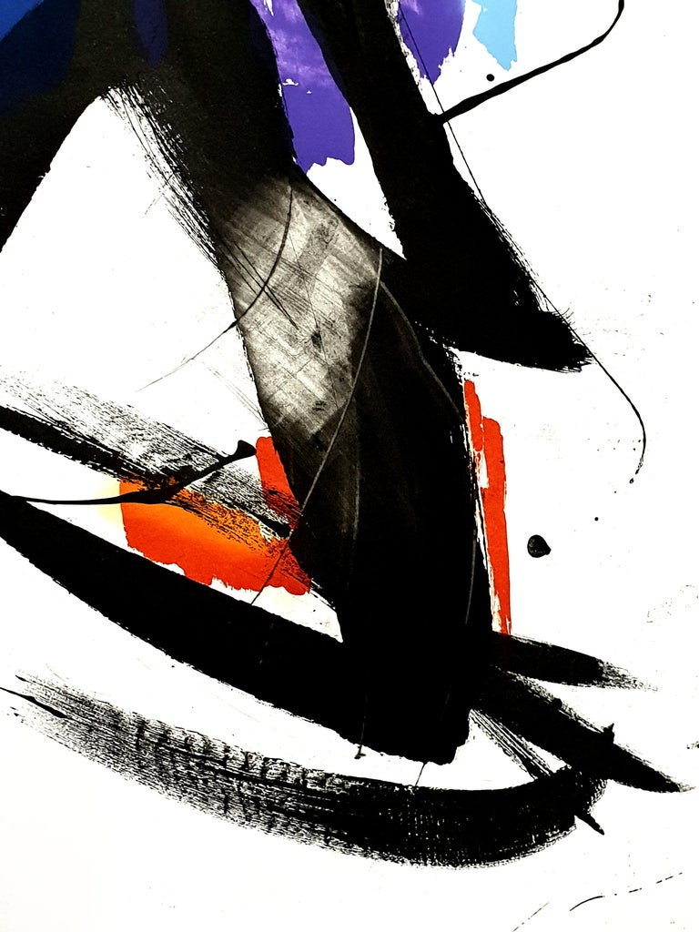 Jean Miotte - Abstract Composition - Original Signed Lithograph For Sale 3
