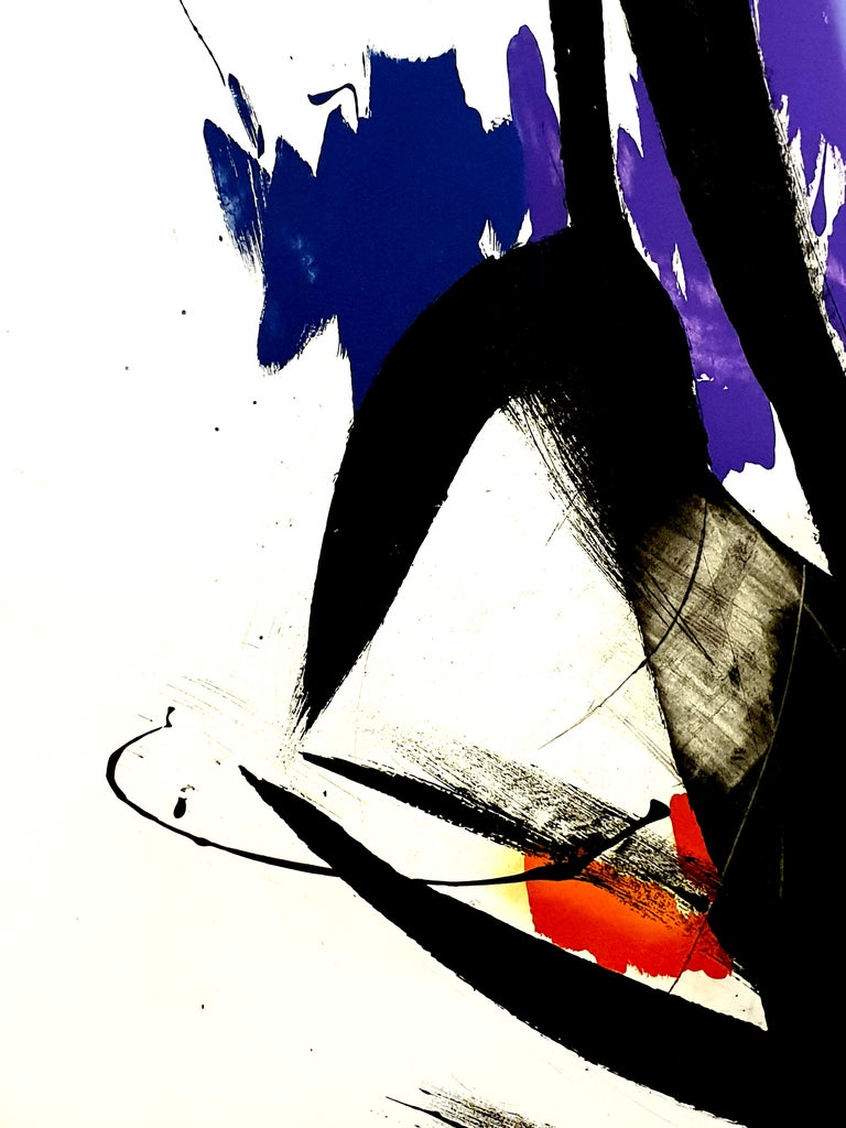 Jean Miotte - Abstract Composition - Original Signed Lithograph For Sale 4