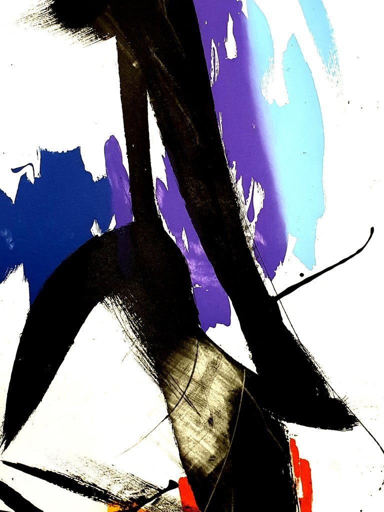 Jean Miotte - Abstract Composition - Original Signed Lithograph For Sale 5