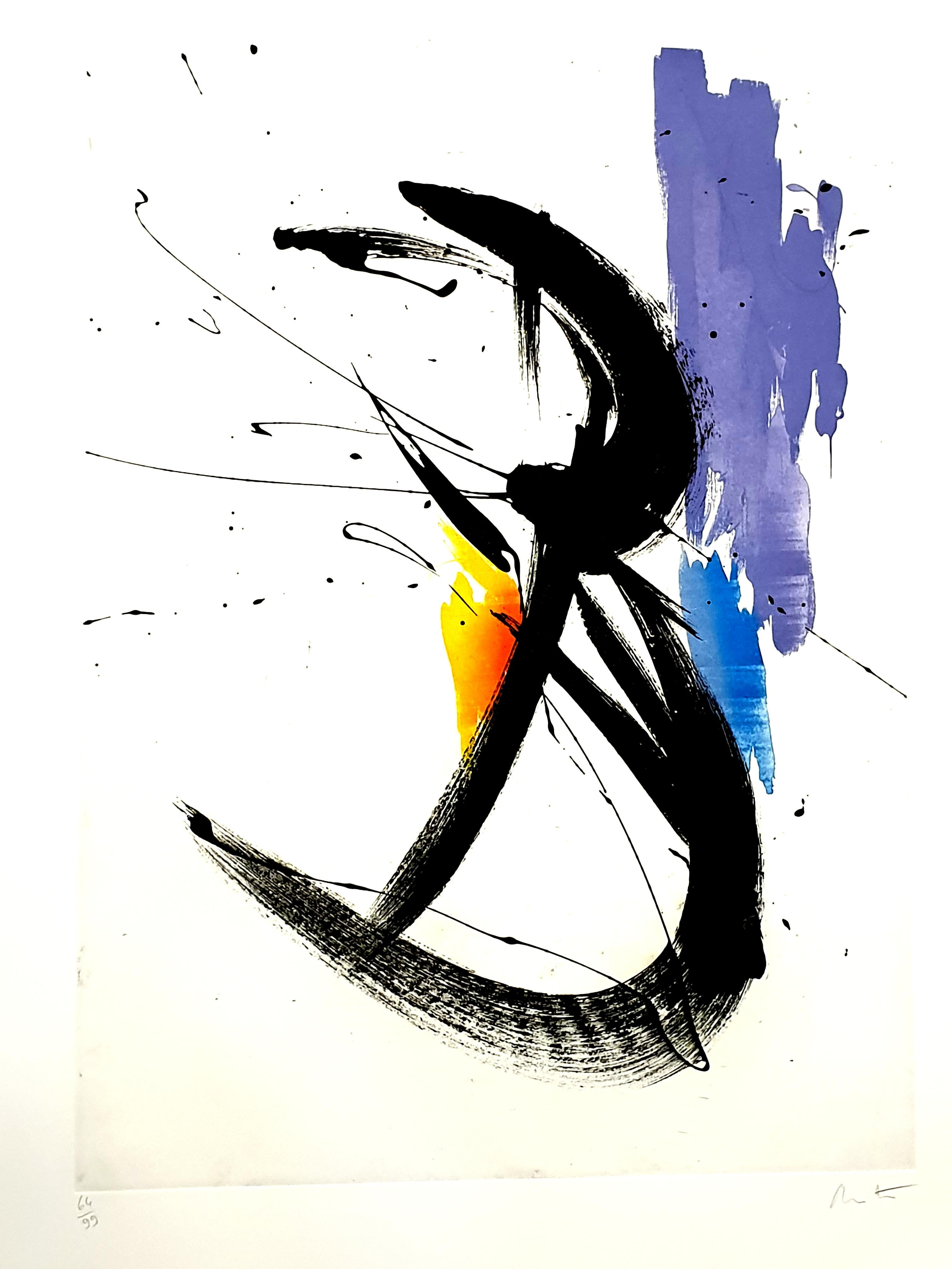 Jean Miotte - Abstract Composition - Original Signed Lithograph