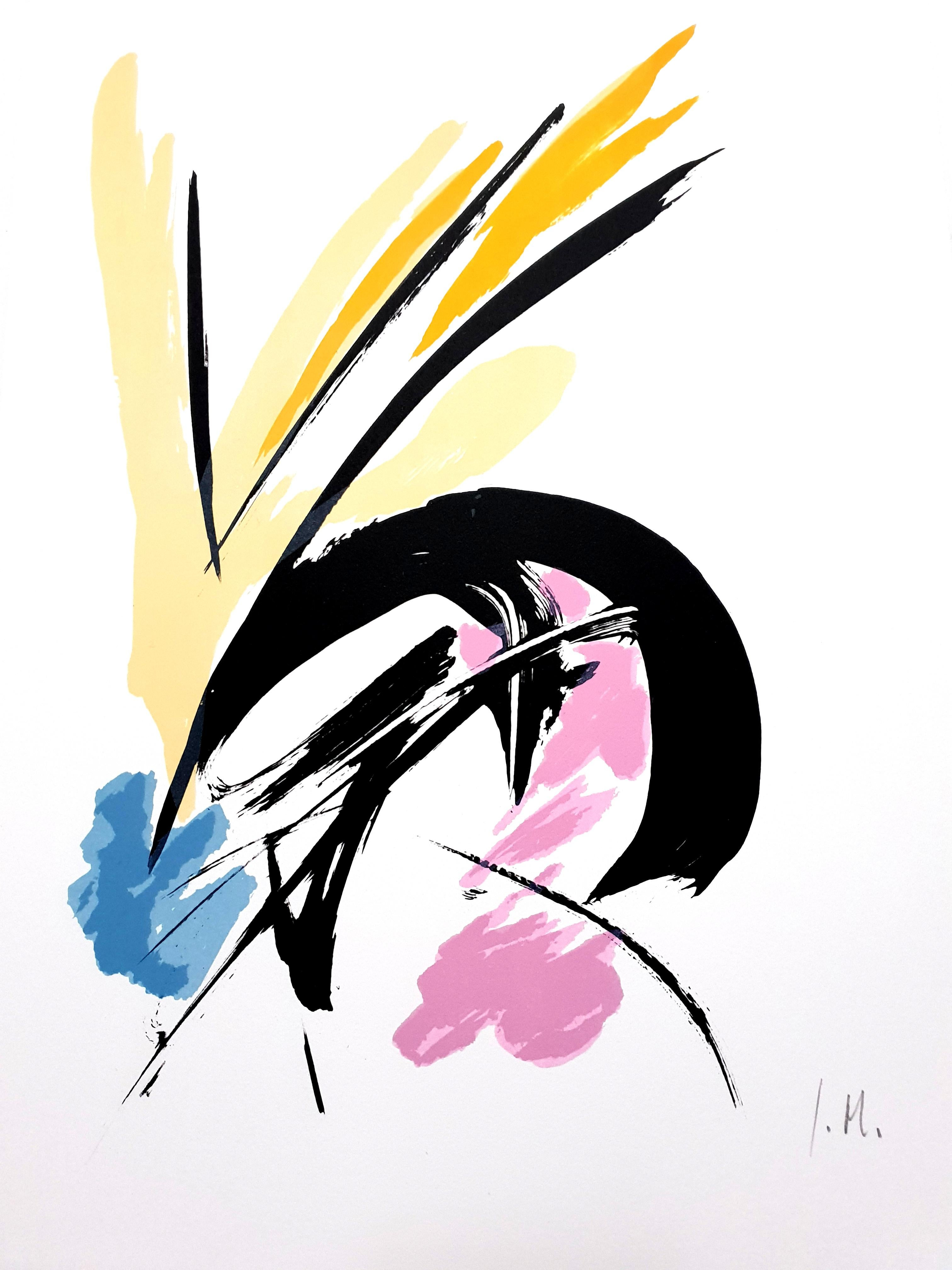 Jean Miotte - Constant Eye I - Original Signed Lithograph