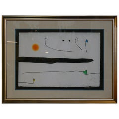 Jean Miro Spain Lithographic Aquatint, Signed, Very Limited Edition