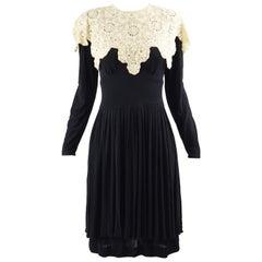 Jean Muir 1970s Black Jersey Dress