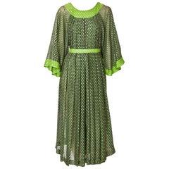 Jean Muir 70's Bohemian Style Dress