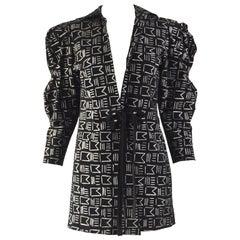 Jean Muir Black Suede Architectural Sleeve Vintage Jacket