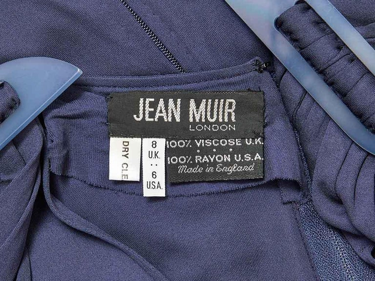 Jean Muir Ink Blue Jersey Maxi Dress For Sale 2