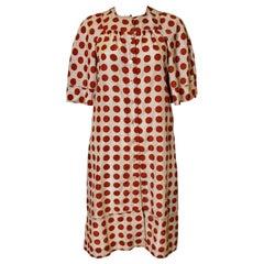 Jean Muir Silk Polka Dot Dress
