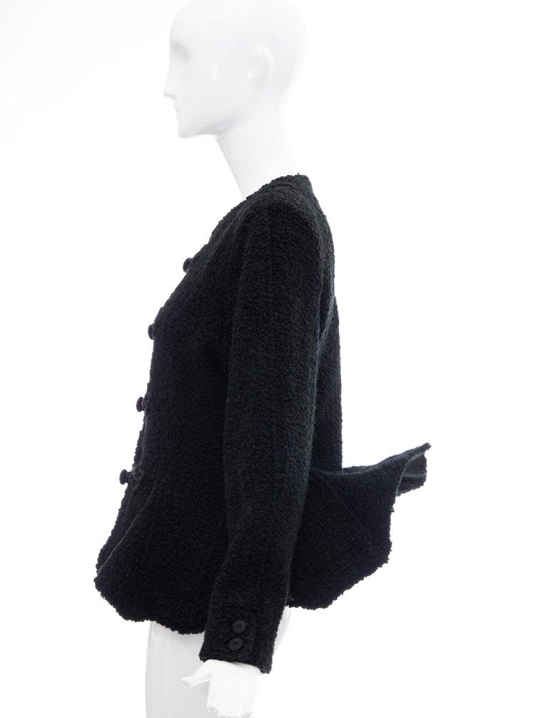 Jean Muir Studio Black Faux Persian Lamb Jacket, Circa: 1980's For Sale 7